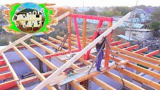 как сделать вальмовую крышу дома своими руками