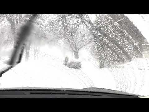 Driving Through a Minnesota Blizzard in Minneapolis