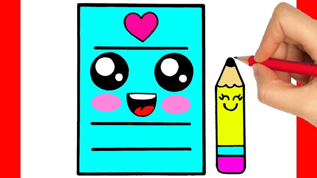 COMO HACER UNA CARTA - DIBUJOS KAWAII - como dibujar una carta de amor kawaii