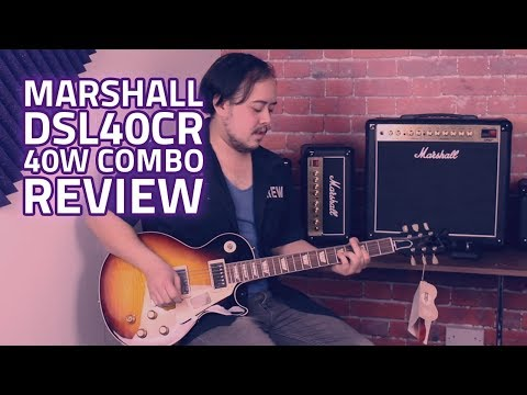 Marshall DSL40CR 40W 1x12 Combo With Reverb - Demo & Tone Test