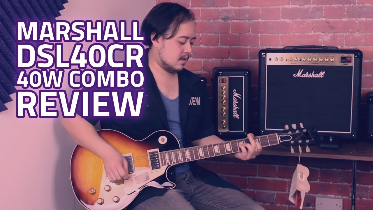 marshall dsl40cr 40w 1x12 combo with reverb demo tone test youtube. Black Bedroom Furniture Sets. Home Design Ideas