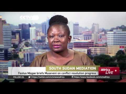 Festus Mogae briefs Museveni on South Sudan conflict resolution progress