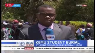 KeMU student whose decomposing body was found in rental house laid to rest