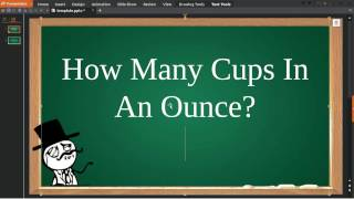 How Many Cups In An Ounce