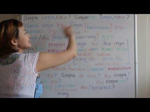 LEARN INDONESIAN LANGUAGE #38 SIAPA APA - WHO WHAT