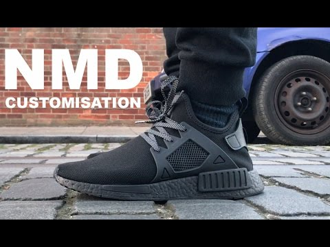 size 40 59e35 fbaa7 NMD XR1 TRIPLE BLACK CUSTOMISATION