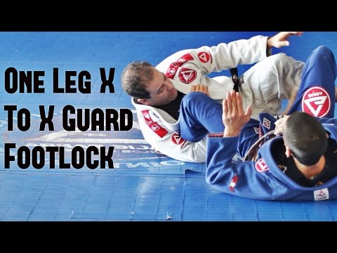 One Leg X To X Guard Footlock BJJ With Dave Weber