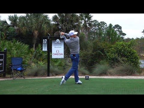 HUNTER MAHAN 120fps DRIVER FACE-ON REGULAR & SLOW MOTION GOLF SWING – 1080p HD