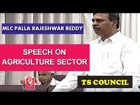 TRS MLC Palla Rajeshwar Reddy Speech On Agriculture Sector | TS Legislative Council | V6 News