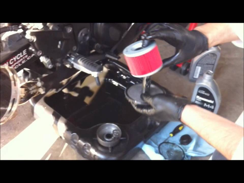 How To Change Oil On A Ninja 250 Youtube