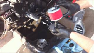 How to change oil on a ninja 250