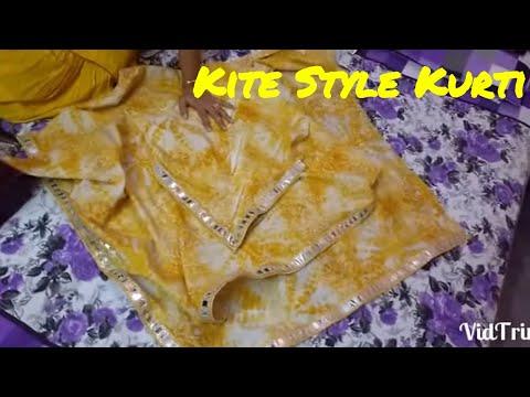 Designer Kite Style Kurti / Triangle Kurti Drafting & Cutting in Hindi / DIY  SARA