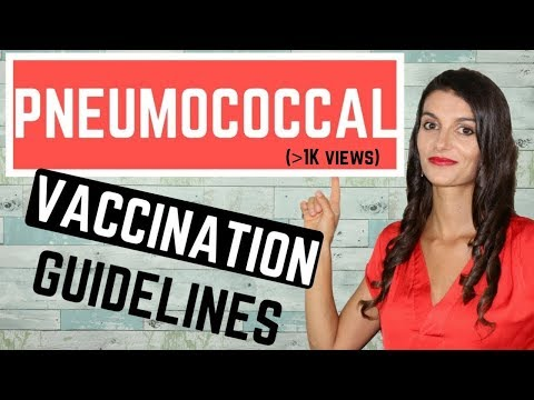 Pneumococcal Vaccination Complete Guidelines *USMLE STEPs 1, 2 & 3*