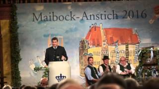Rede Markus Söder beim Maibockanstich 2016 im Hofbräuhaus