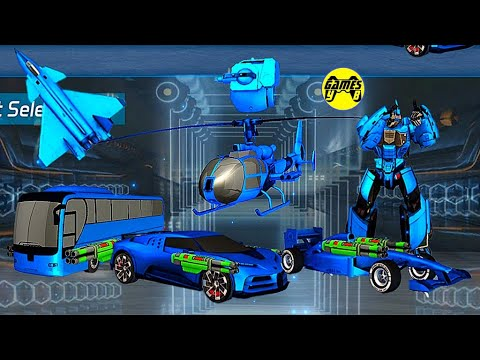 Download Multiple Robot Transformation Games 2021 - Jet Robot Car Drone Games Battle - Android Gameplay
