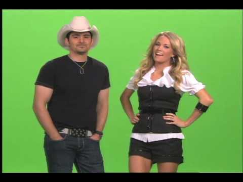 Brad Paisley and Carrie Underwood-2008 ACM Promo Shoot Bloopers-#1