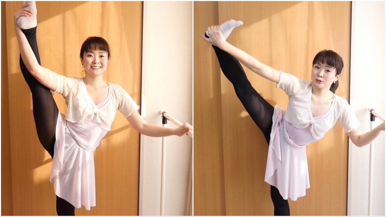 y字バランス 【Y字バランスがキープできないときは】バレリーナが安定して立てる姿勢のコツ Standing side splits