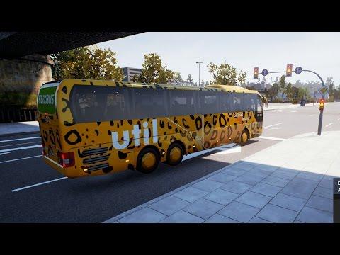 Fernbus Simulator   Destino Central de Autobuses en Essen, Alemania   Soleado como Mayo