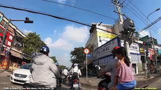 Traffic in District 12, Hoc Mon district, Ho Chi Minh City, Viet Nam - Vlog  622