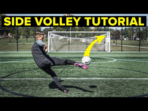 HOW TO SIDE VOLLEY TUTORIAL | Learn Football Skills