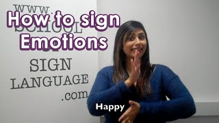 How to sign emotions in British Sign Language
