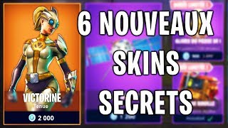 6 SKINS SECRETS FORTNITE! FIRST EYE COUP! (NEW SKINS, PLANEURS, PIOCHES AND EMOTES)