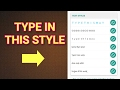 How to type in Different Stylish Text Fonts on Whatsapp / Messenger / SMS /Facebook