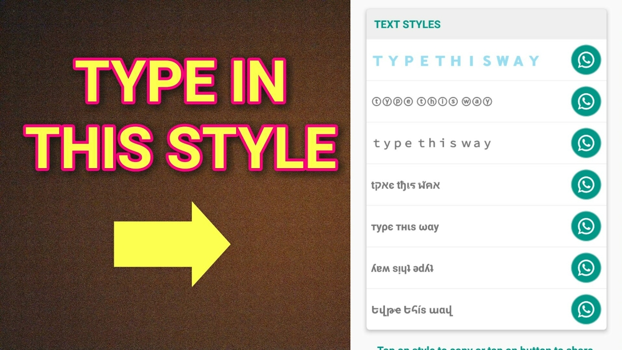 Buy Fonts stylish status for whatsapp picture trends