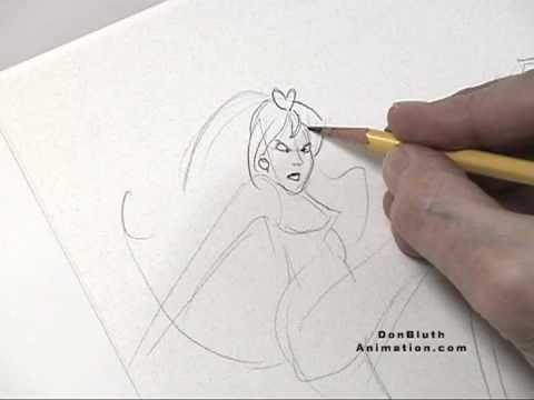 Don Bluth Draws Kimberly from Space Ace.