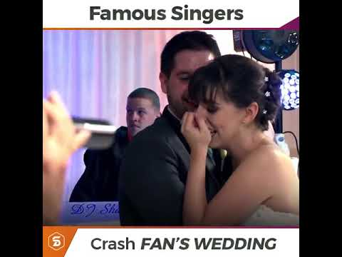 The way famous singers surprise fans in their wedding