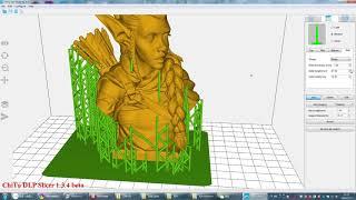ChiTu DLP Slicer V1.3.4 (For DLPLCD 3D Printer) Support Demo