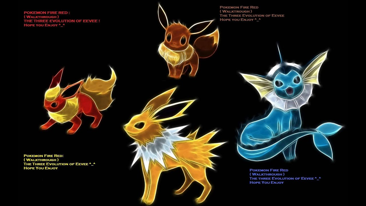 Pokemon fire red eevee evolution   also youtube rh