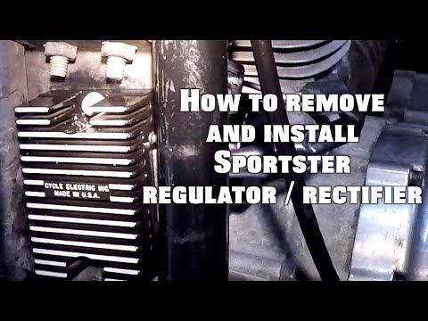sportster voltage regulator rectifier - YouTube on