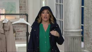 Susan Graver Snap Front Anorak Jacket with Hood on QVC