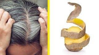 Befreie dich von grauen Haaren mit nur 2 Zutaten!