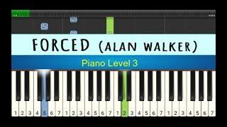 nada piano forced - alan walker - belajar piano tingkat 3 - instrumental