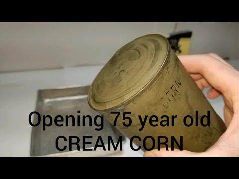 Opening & Testing 85 Year Old Cream Corn (1934)