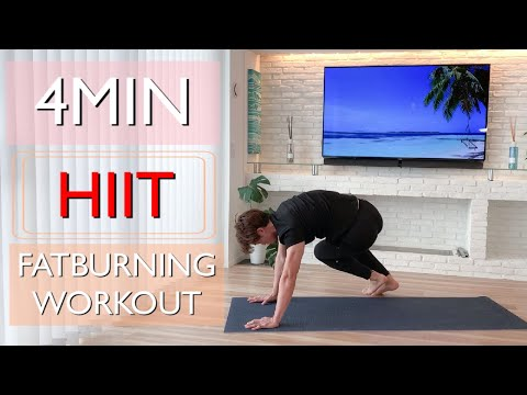 4 MIN FAT BURNING WORKOUT / HIIT / 4分間脂肪燃焼体幹ワークアウト【Diet】【BodyWeightWorkout】