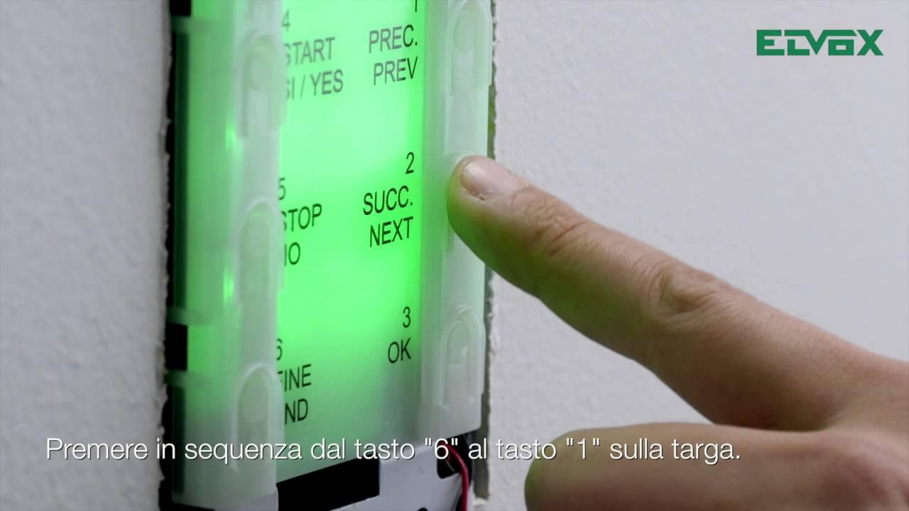 Schema Elettrico Elvox 938a : Videocitofonia elvox due fili plus programmazione