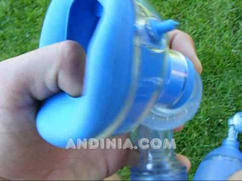 Primeros auxilios: respirador artificial manual (Ambu) - First-aid: BMV (Bag Valve Mask) Ambu mask