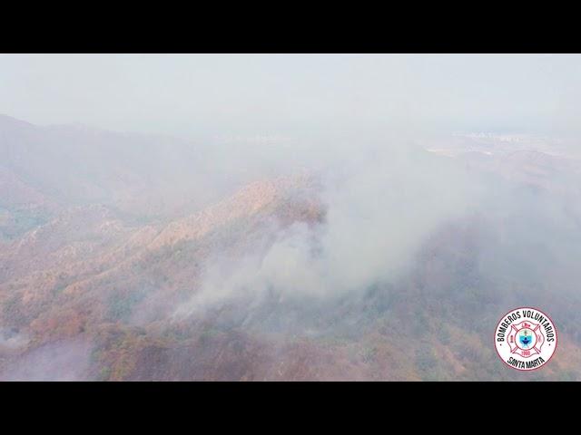 Incendio forestal en Tigrera