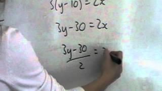 GCSE - Q2 make x the subject
