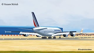 Air France A380 Smooth Landing @ Cairo .. Late Touchdown ( Flight Simulator X / FSX )