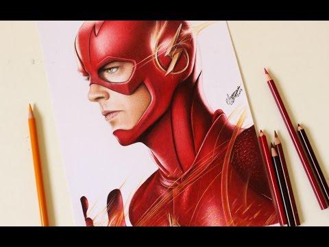 Drawing The Flash Desenhando O Flash Youtube