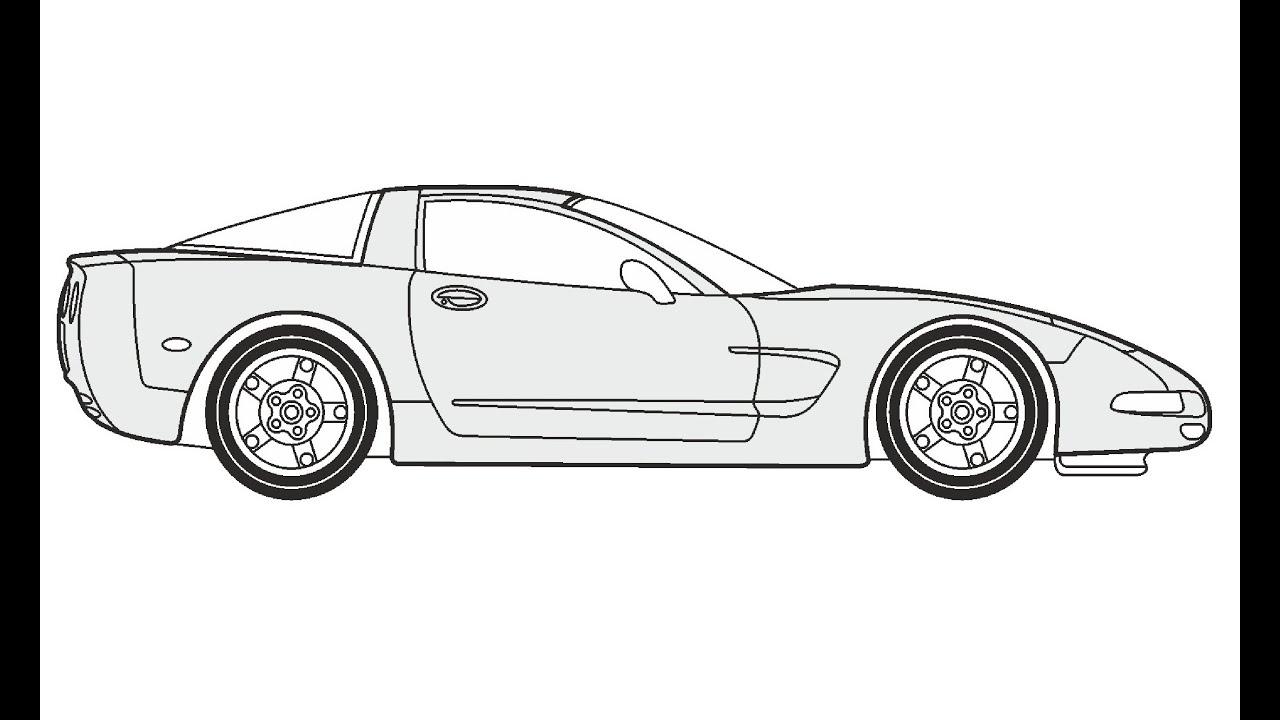 How to Draw a Chevrolet Corvette Coupe / Как нарисовать
