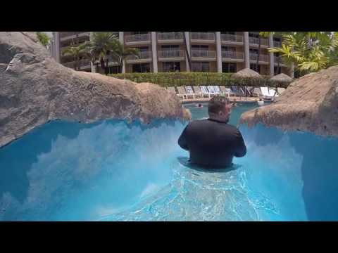 Exploring the pools at the Grand Wailea