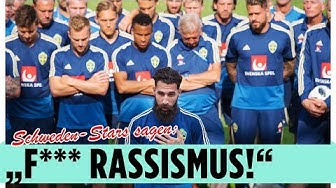 Schwedische Nationalmannschaft setzt Zeichen gegen Rassismus