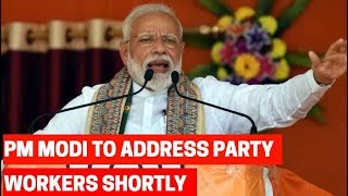 PM Modi to address party workers at BJP Headquarters shortly