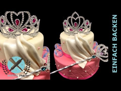 Prinzessinnen Torte Mit Diadem Und Zepter Turtorial Youtube