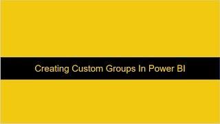 إنشاء مخصص الهرمي Power BI